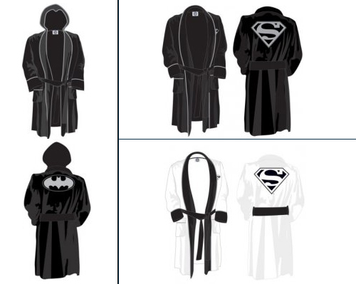 Batman and Superman Towelling Bath Robes  4dc75abfe