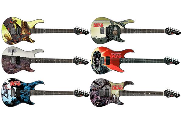 walking dead guitars